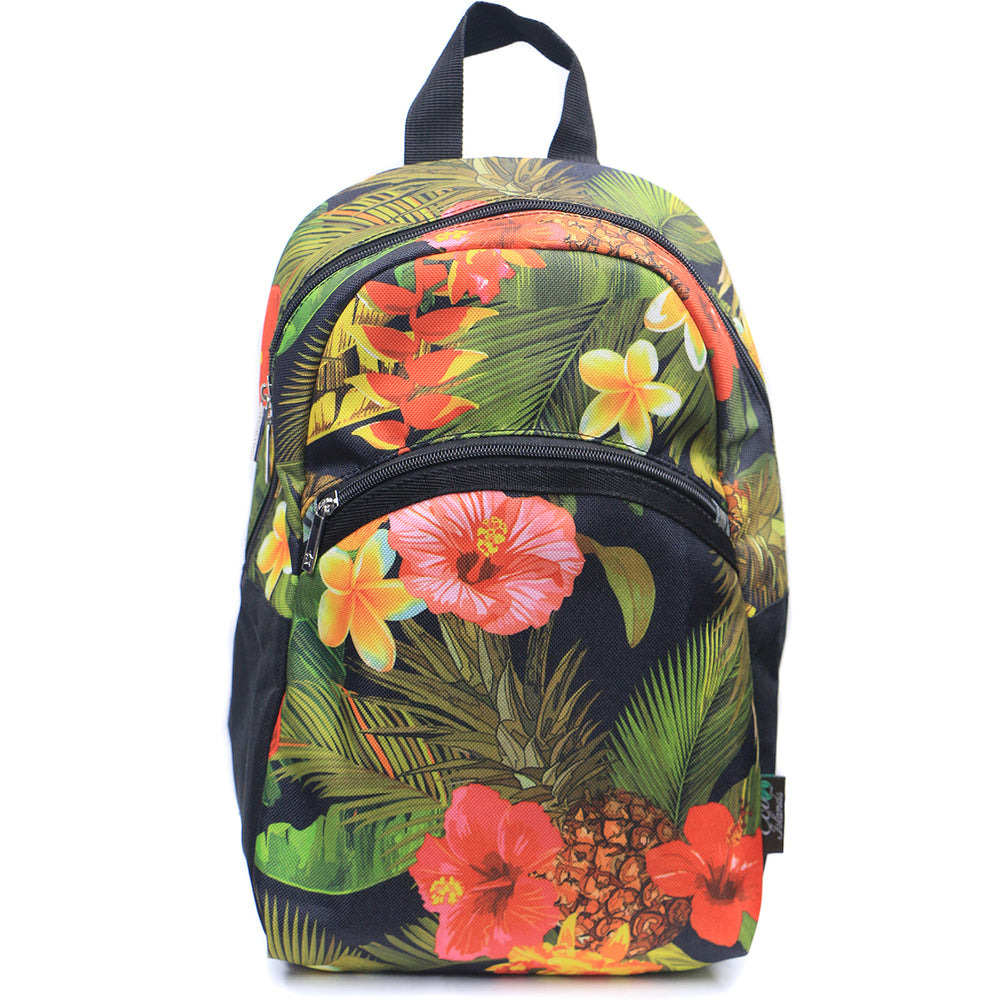 MINI BACKPACK SERIES - TROPICAL GARDEN - BLACK