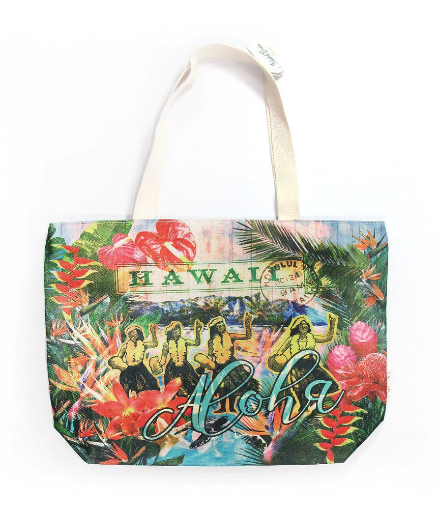 Woven Polyester TOTE BAG - HULA-DIAMOND HEAD