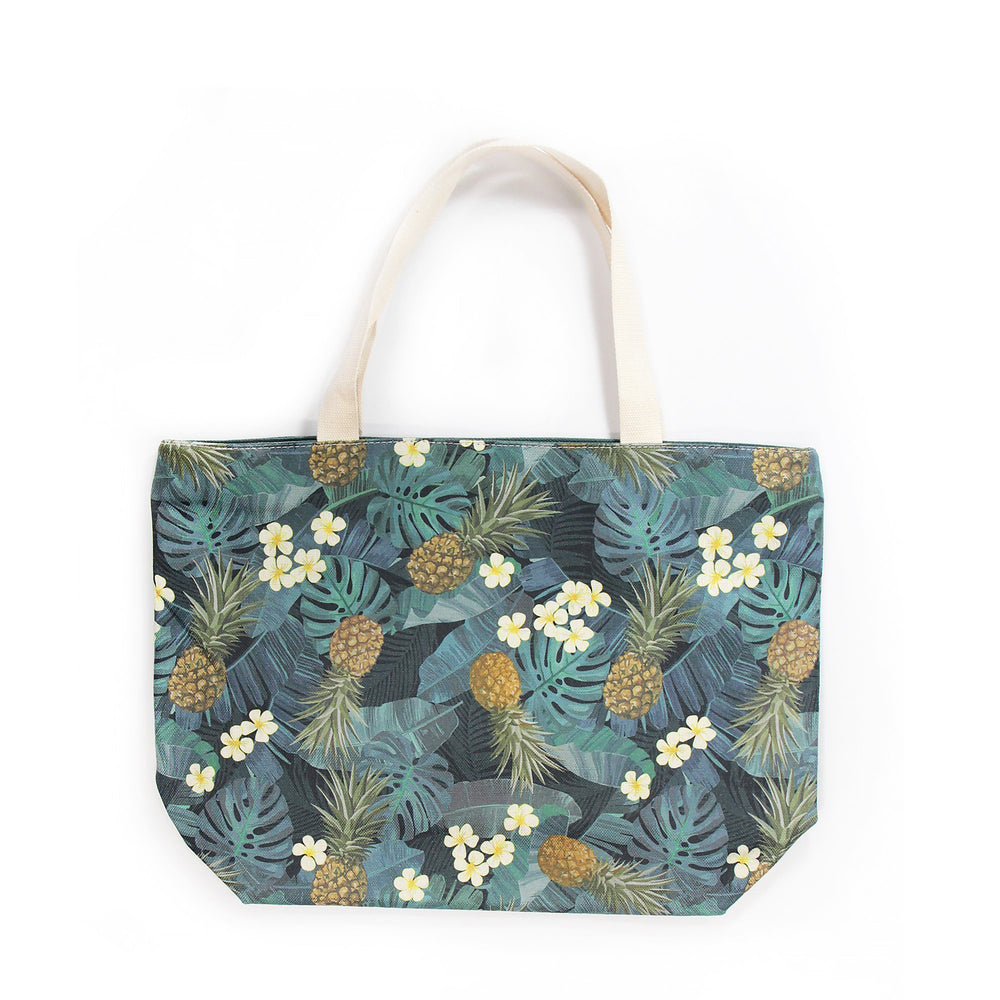 Woven Polyester TOTE BAG - MONSTERA PINEAPPLE