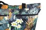 Beach Tote Bag MONSTERA PINEAPPLE - BLACK