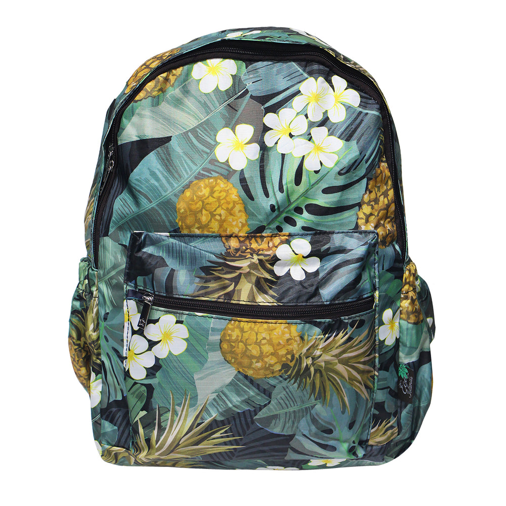 Hawaii Foldable Backpack MONSTERA PINEAPPLE
