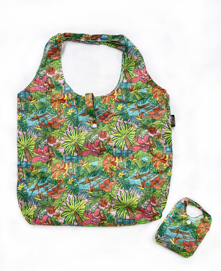 Foldable Reusable Shopping bag HULA PARADISE