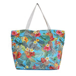 Woven Polyester TOTE BAG - TROPICAL GARDEN