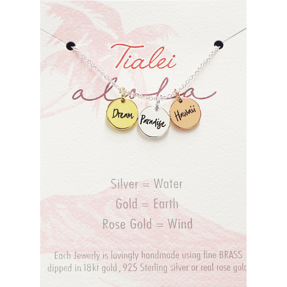INSPIRATIONAL SILVER OR ROSEGOLD NECKLACE