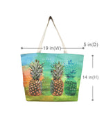 Woven Polyester TOTE BAG - PINEAPPLE ISLAND