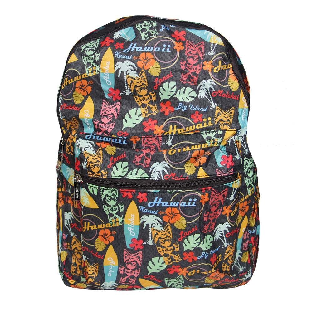 Hawaii Foldable Backpack TIKI SURF