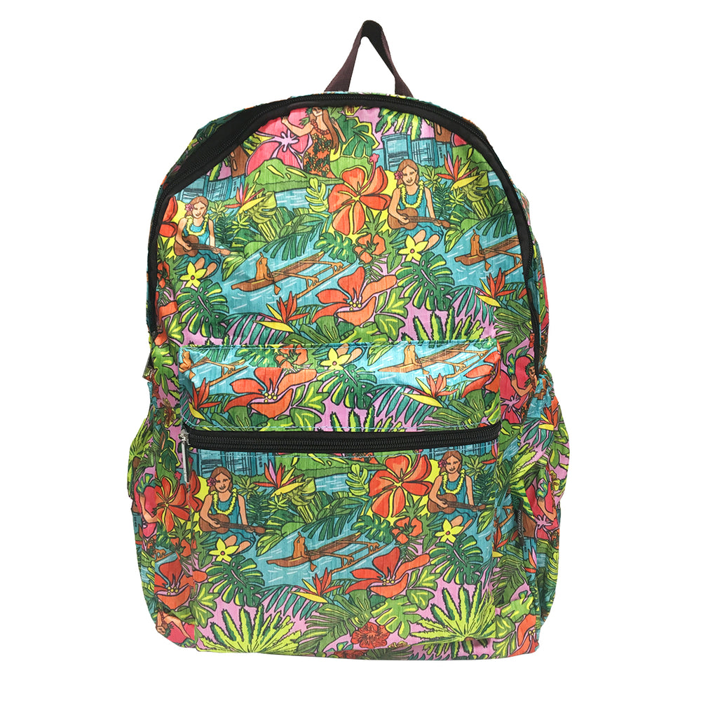 Hawaii Foldable Backpack HULA PARADISE
