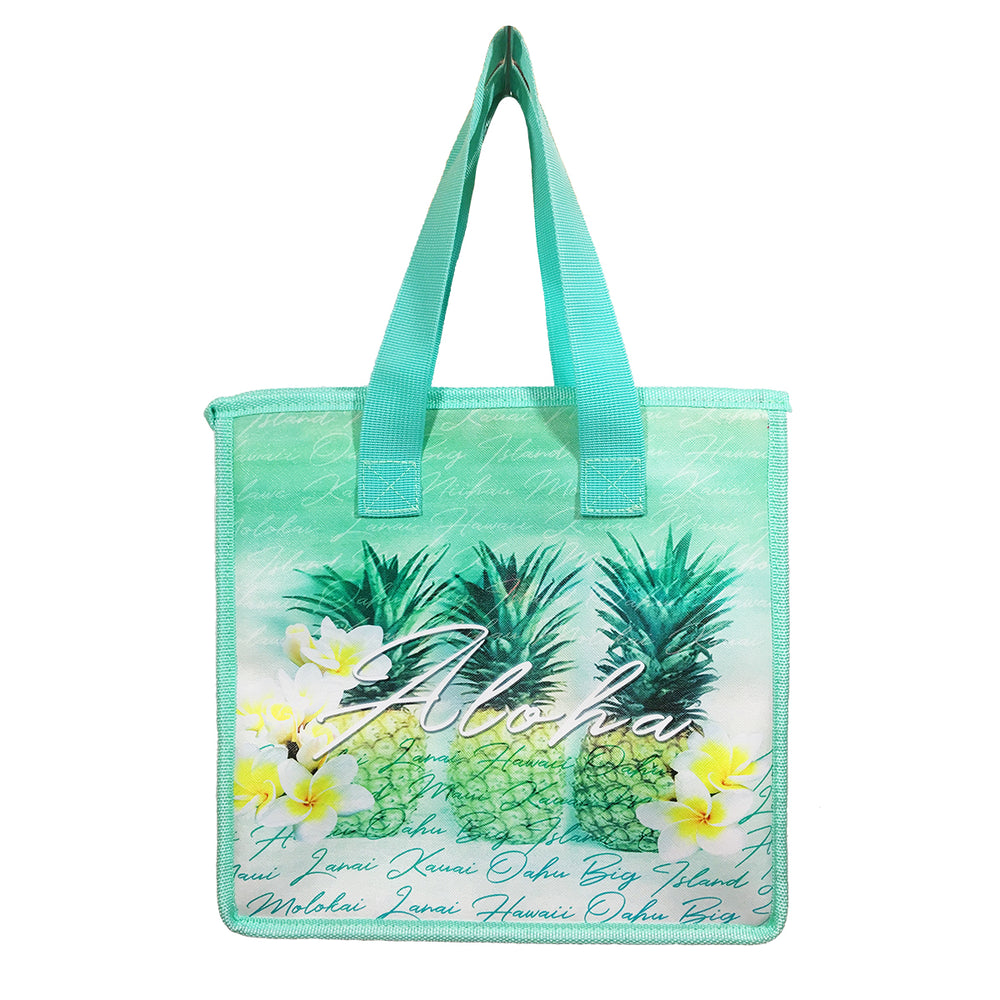 Insulated Picnic Bag - GREEN PINEAPPLES