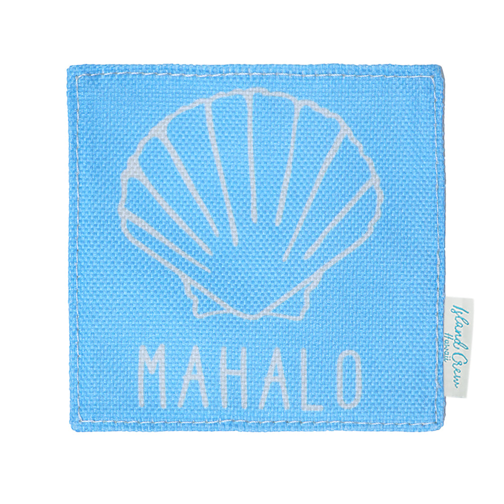 WOVEN COASTER: SEASHELL MAHALO - 4 PCS SET