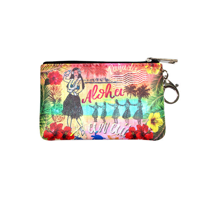 COIN PURSE SERIES: HULA GIRL HAWAII