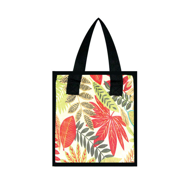 Small Cooler Bag - LEAF PRINT - BEIGE