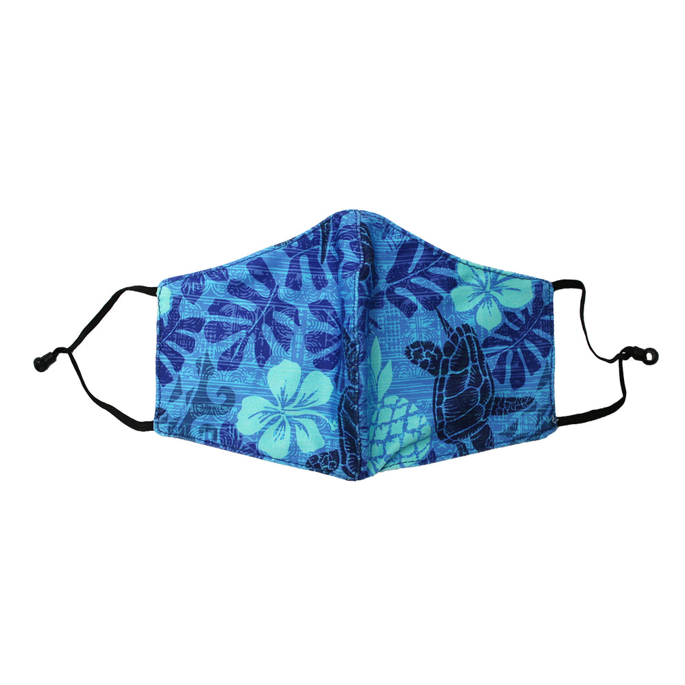 FACE MASK W/ ADJUSTABLE STRAP : TAPA HONU - 3, 4 SETS
