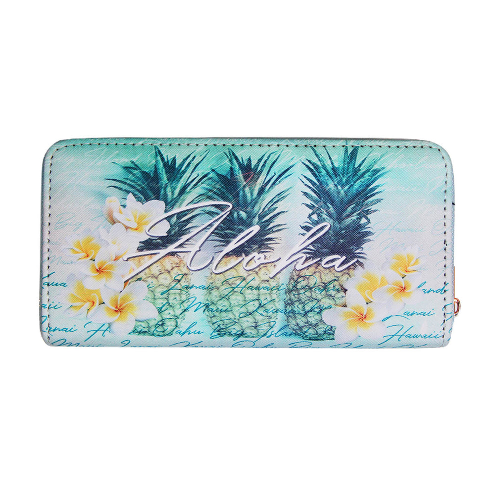 GREEN PINEAPPLES WALLET
