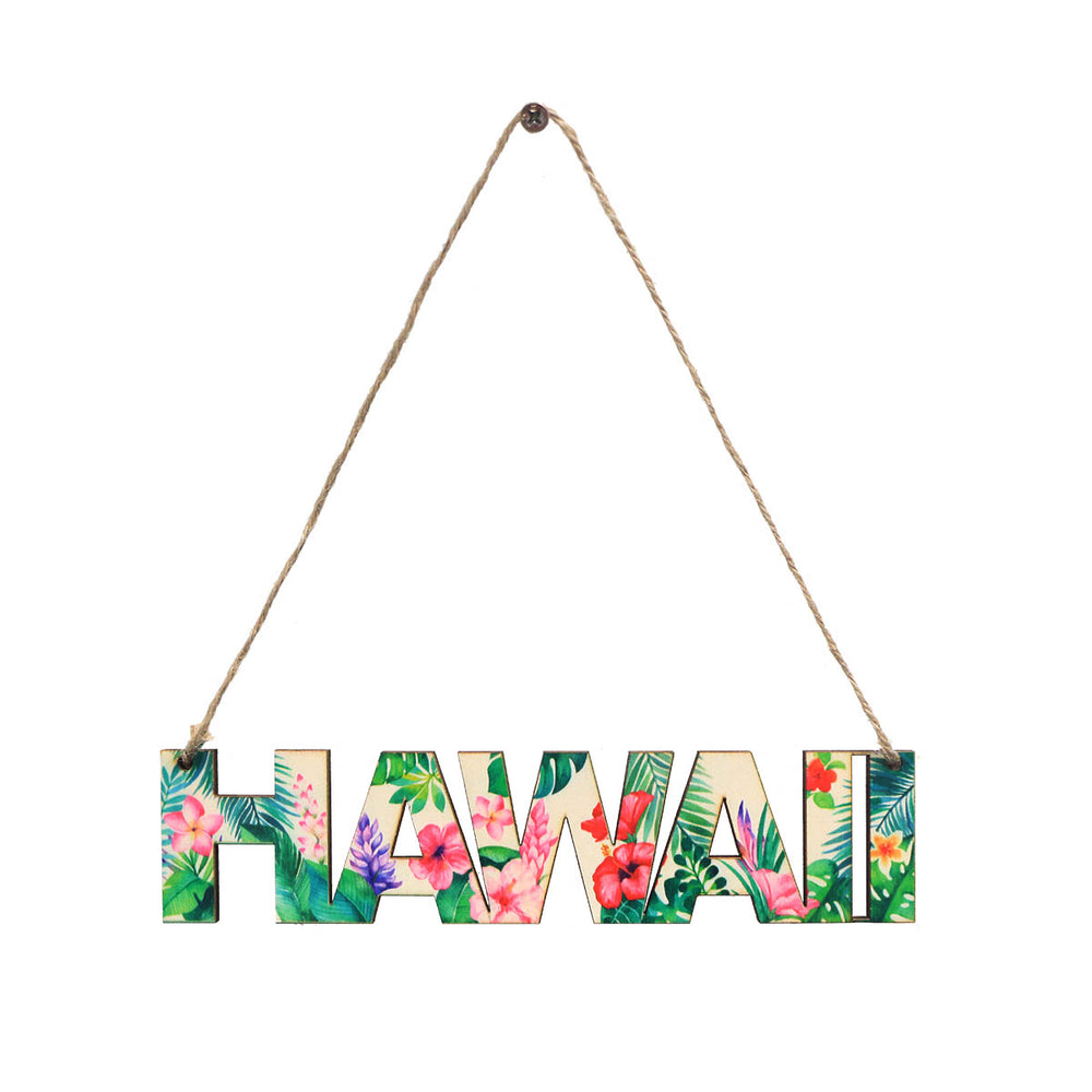 WOODEN SIGN - LETTER - PARADISE HAWAII