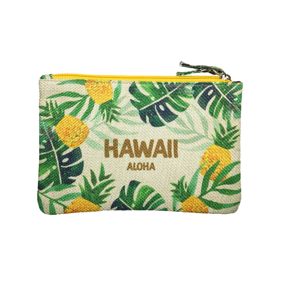 WOVEN POUCH - PINEAPPLE