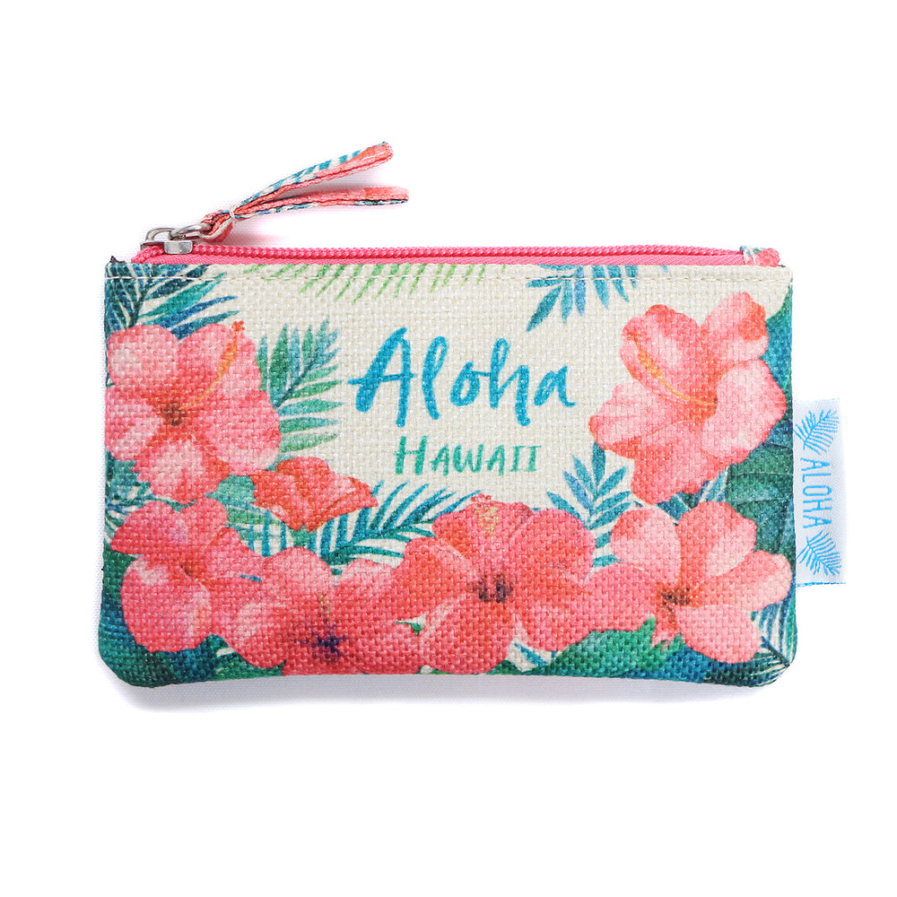 WOVEN POUCH - HIBISCUS BLOOM