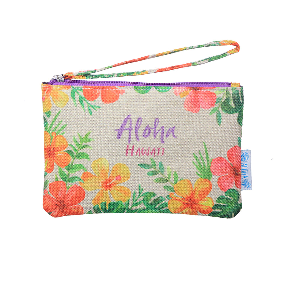 WOVEN POUCH - HIBISCUS SUMMER