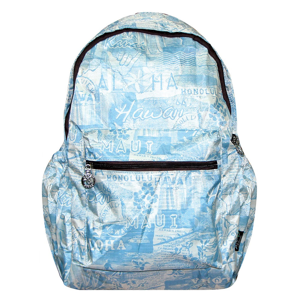 Hawaii Foldable Backpack SURFER - BLUE/ORANGE