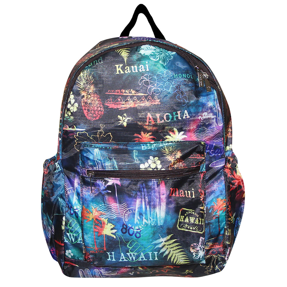 Hawaii Foldable Backpack RAINBOW NIGHT - MULTI