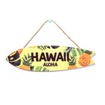 WOODEN SIGN - SURFBOARD - PINEAPPLE HAWAII ALOHA