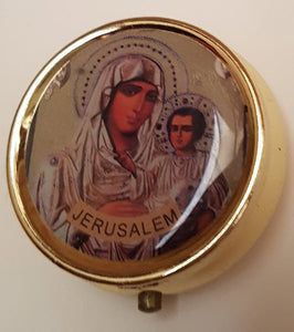 Virgin Mary of Jerusalem Pill Box