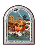 The temptation of St Anthony Printed Metal Plated Icon