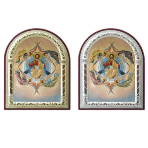 The Ascension of Christ Printed Metal Plated Icon
