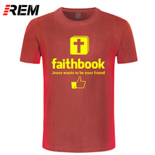 Load image into Gallery viewer, Jesus Wants To Be Your Friend Faithbook T Shirt Unisex