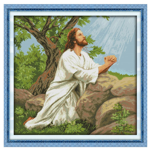 Praying Jesus Cross Stitch