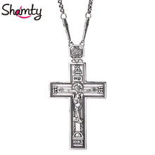 Load image into Gallery viewer, Cross Pendent Ancient Silver Style