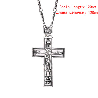 Cross Pendent Ancient Silver Style