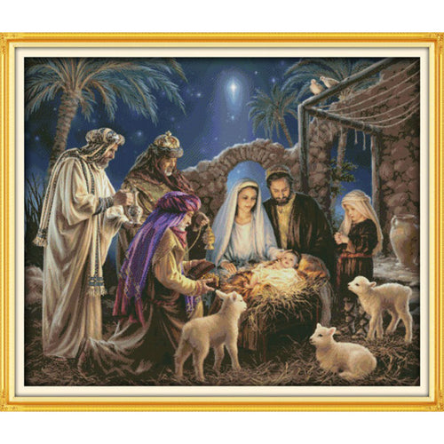 Birth of Jesus Christ Cross Stitch Kits