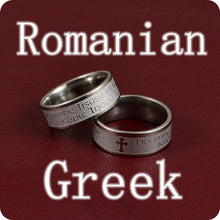 Load image into Gallery viewer, Romanian and Greek Stainless Steel Ring