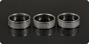 Romanian and Greek Stainless Steel Ring