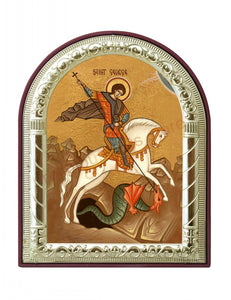 St George Printed Metal Plated Icon