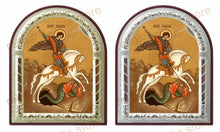 Load image into Gallery viewer, St George Printed Metal Plated Icon