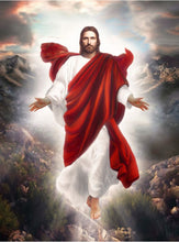 Load image into Gallery viewer, Jesus Rising Cross Stitch