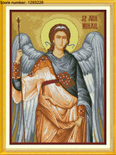 Load image into Gallery viewer, Archangel Michael Cross Stitch Kit