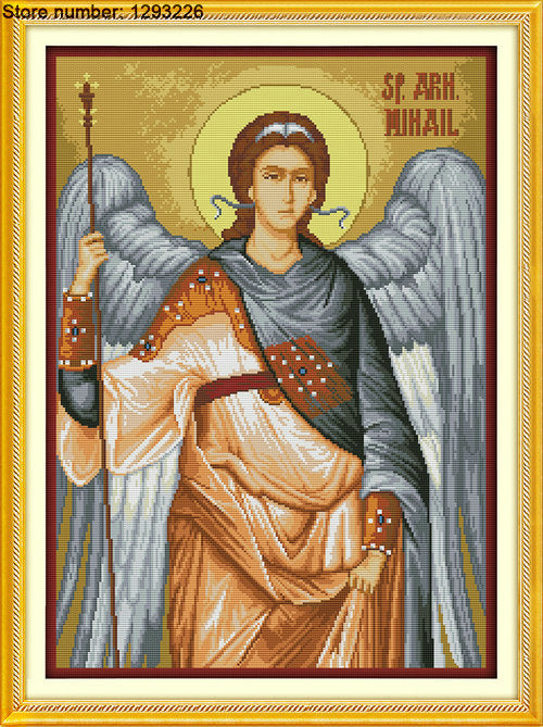 Archangel Michael Cross Stitch Kit