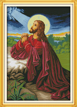 Load image into Gallery viewer, Jesus Cross Stitch Kit