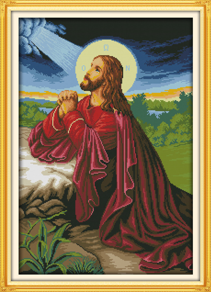 Jesus Cross Stitch Kit