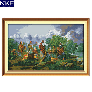 Jesus and His Disciples Cross Stitch Kit