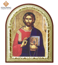 Load image into Gallery viewer, Jesus Christ Printed Metal Plated Icon
