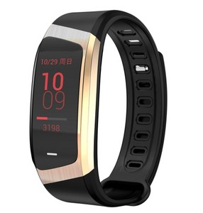 E18 Mens 0.96 inch HD Color Screen Fitness Tracker Watch Smart Wristband