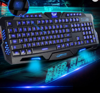 Hot sale RGB 3 colors backlit 114 keys Waterproof USB Wired Mechanical Gaming Keyboard