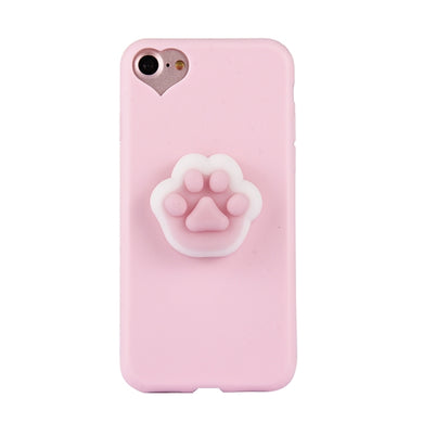 iPhone 8 & 7 3D Paw Print Squishy Stress Relief Protective Back Cover Case