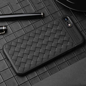 USAMS iPhone 8 & 7 Weave Style TPU Breathable Soft Protective Back Case