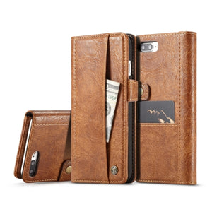 CaseMe for iPhone 7 Plus & 8 Plus Leather Texture Horizontal Case with Magnetic Clasp & Wallet