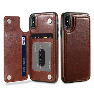 FLOVEME Protective Authentic Leather Case w/ Wallet for iPhone X