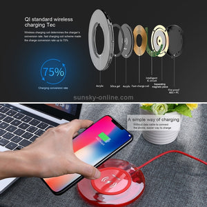 JOYROOM JR-A9 Wireless Charger for iPhone X/8/ Samsung Galaxy 9/8/7/6